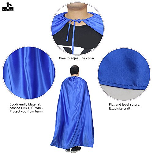 iROLEWIN Adult-Sized Superhero Capes & Masks Set Costumes For Men – Women Dress up Party
