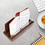 Nhatvywood premium wood large book holder stand for reading, extra-durable recipe book holder, cookbook holder and stand for kitchen