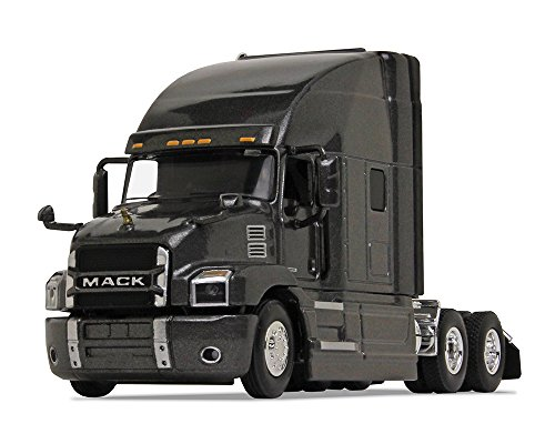 First Gear 1/64 Scale Diecast Collectible Graphite Gray Mack Anthem Sleeper Cab Tractor (#60-0364) ()
