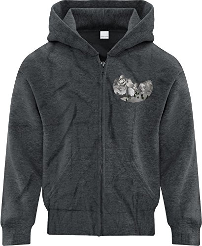 Price comparison product image BSW Youth Girls Mount Gamemore Gamer Zip Hoodie LRG Dark Heather