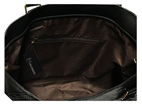Spalla Tasca Ecopelle Handbag manico Tote Con Top In Frontale Dettaglio Patta Kukubird Orange Karina SvYqxF