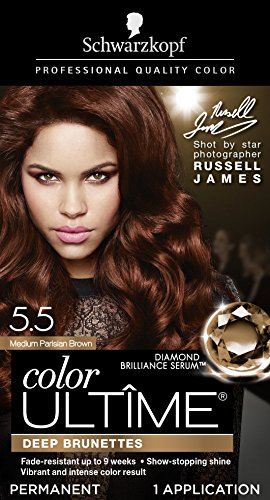 Schwarzkopf Color Ultime Permanent Hair Color Cream, 5.5 Medium Parisian Brown (Packaging May Vary)