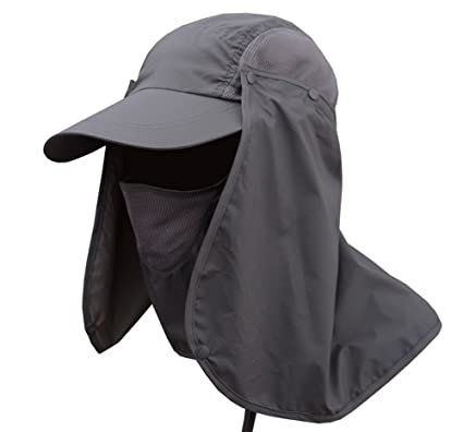 0785f5e410504 JITTY Sun Cap UV Protection Removable Neck   Face Flap Cover Caps for  Baseball Summer Outdoor