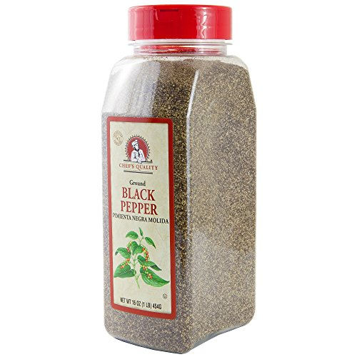 (Black Pepper Ground Powder - Chefs Quality 1 LB (16Oz) | Best Food Seasoning | Premium Restaurant Quality (Black Pepper))