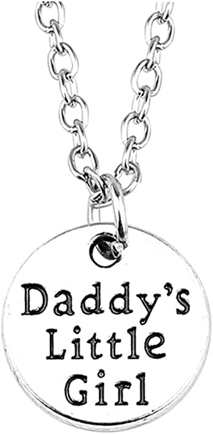 """Ladies 14K Yellow Gold /""""Daddy/'s Little Girl/"""" Father Daughter Charm Pendant"""