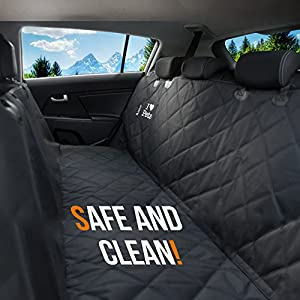 Starling's Luxury Dog Car Seat Covers for Backseat - New Design! Double Stitched, Hammock Style, Heavy Duty, Waterproof & Non-Slip -W/Pet Car Seat Belt & a Dog Rope Toy, for Car & SUV!