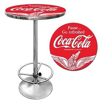 Coca-Cola Wings Chrome Pub Table