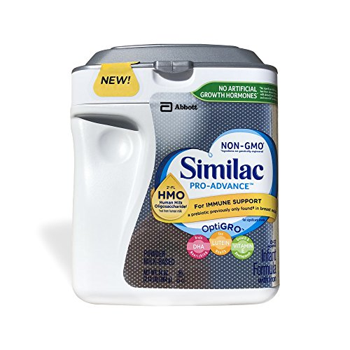 Similac Abbott Pro-Advance Non-GMO Powder Infant Formula with Iron with 2'-FL HMO for Immune Support 34 oz (Various Packs Available) (3 pack)