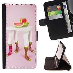 King Case - FOR Sony Xperia Z2 D6502 - Love is a fire - Prima caja de la PU billetera de cuero con ranuras para tarjetas, efectivo Compartimiento desmontable y correa para la mu?eca