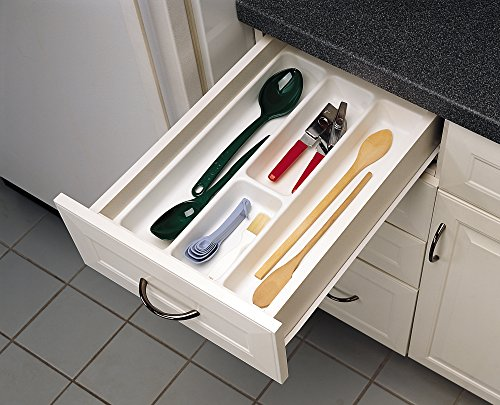 W-52 - Medium Glossy White Cutlery Tray Drawer Insert ()