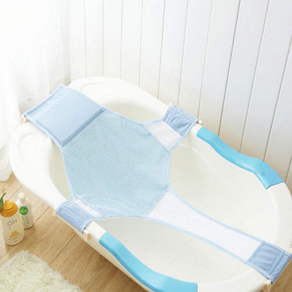 Nicebuty prot/ég/és de bain de b/éb/é Sling Lit Maille souple antid/érapant Sling Cadre plaque de douche masseur Bleu Babyproducts