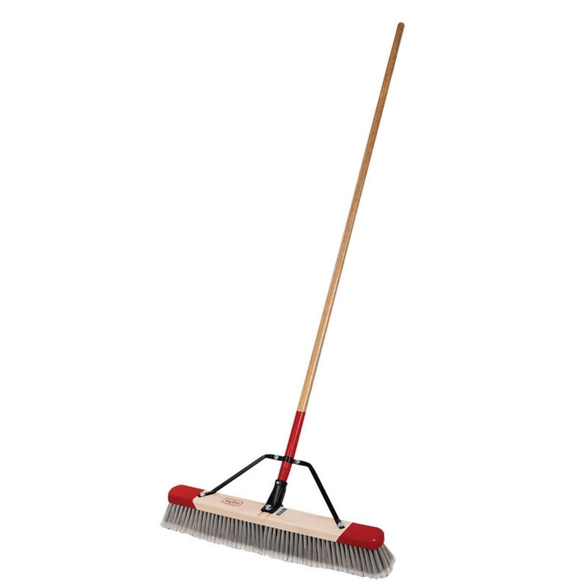 Harper Brush 2224A 24'' Fine Debris Push Broom With 60'' Handle (2)