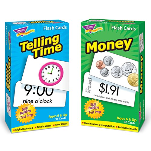 Trend Enterprises Inc T-53905 Time and Money Skill Drill Flash Cards Assortment