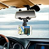 Universal Car Mirror Rearview GPS Phone Mount Car Cellphone Holders iPhone 7/7 Plus, Galaxy S8/S8 Plus