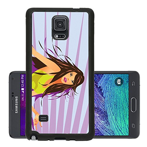 [Liili Premium Samsung Galaxy Note 4 Aluminum Snap Case Sexy dancing girl in club under neon light vector illustration IMAGE ID] (Glamour Costumes 2016)