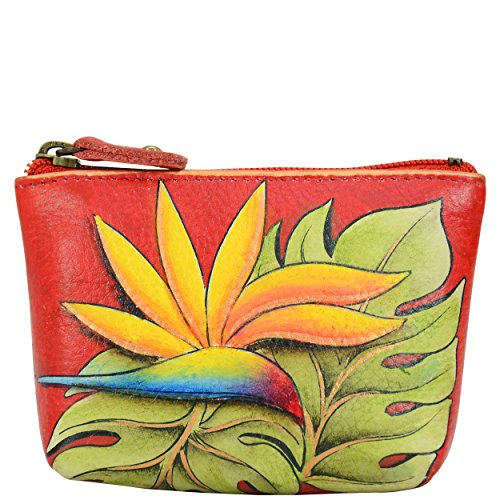 Anuschka Women's Hand Painted Leather Coin Pouch, Island Escape 1031-ISE (Painted Leather)