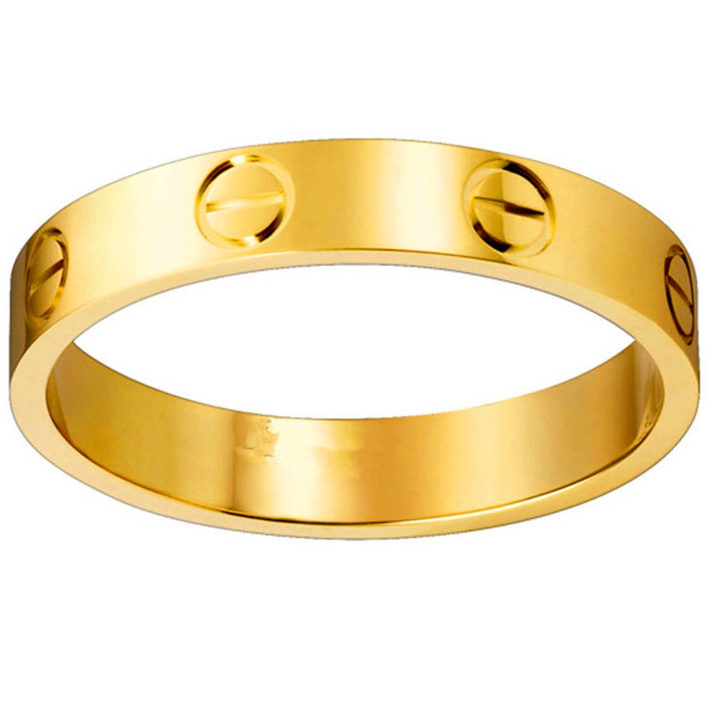Frederic Wilkins Love Ring-Lovers Lifetime Just Love You with Gold Ring(Size: 5-10)