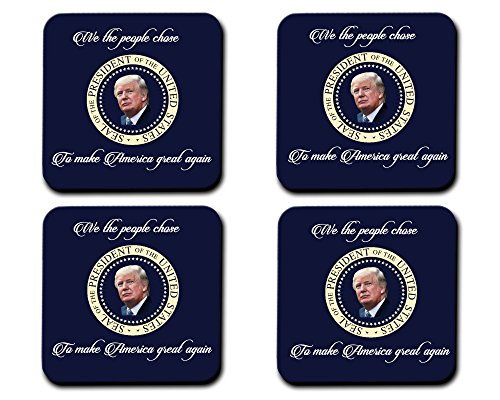 President Trump We The People Hardboard Drink Coasters 4pc - Drinkware Products Promotional