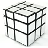 Mirror Blocks Shiny Silver Black Frame Magic Cube Puzzle Brain Teaser- MC333