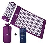 DoSensePro Long Acupressure Mat and Pillow Massage Set + Bonus Hot and Cold