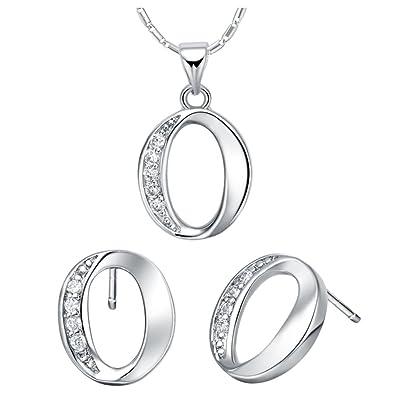 a67a8445accd YLR chapado en oro blanco argentate Oval cero brillante conjuntos de  bisutería de moda las niñas  Amazon.es  Joyería