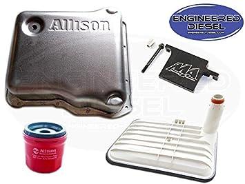Internal Deep Filter AND External Spin On Filter Genuine Allison 1000 Deep Pan Kit w Merchant Filter Lock Allison Deep Pan 29536522 29542824 29539579