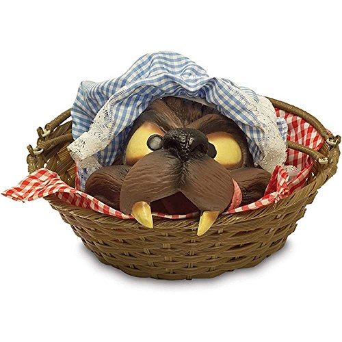 Rubie's Basket with Wolf's Head (Little Red Riding Hood Basket)