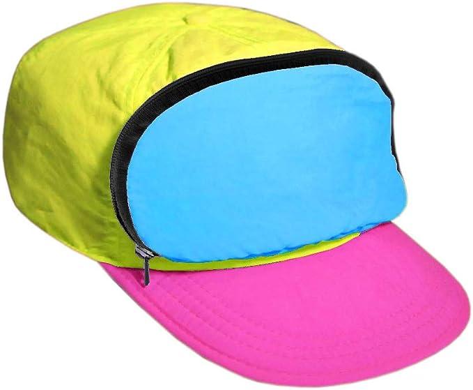 80s Hats, Caps, Visors, Buckets | Women and Men Fanny Pack Hat Nylon| 80s/90s Cap for Men | Retro Cap for Women |Zipper Pocket $22.99 AT vintagedancer.com