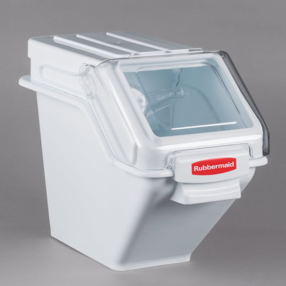 TableTop King FG9G5700WHT 6.3 Gallon ProSave Shelf Ingredient Storage Bin with 2 Cup Scoop