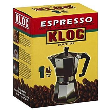 Amazon.com: kloc Espresso Coffee Aluminum maker 1 cup ...