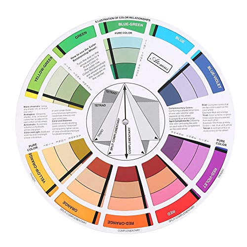 Color Wheel Professional Mix Guide Round Tattoo Nail Pigment Paper Card Supplies (Harmonious Colour Wheel)
