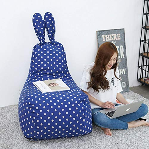HFA Brisk Creativity Cute Rabbit Modeling Bean Bag de tamano pequeno Silla de dormitorio perezosa l/C