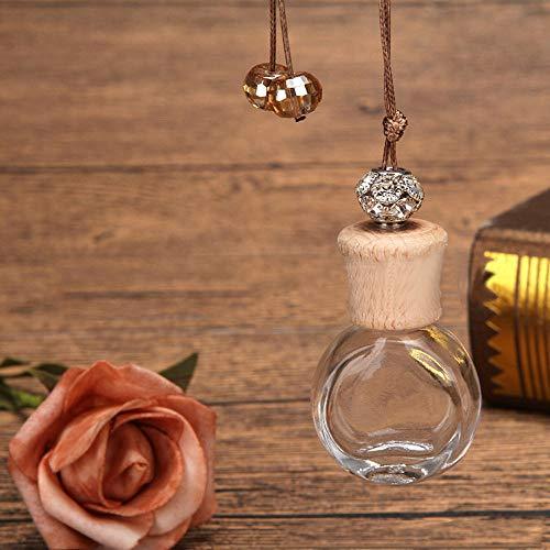Gotian 6ml Car Perfume Bottle for Air Fresheners Auto Car, Styling Ornament Perfume Pendant (A)