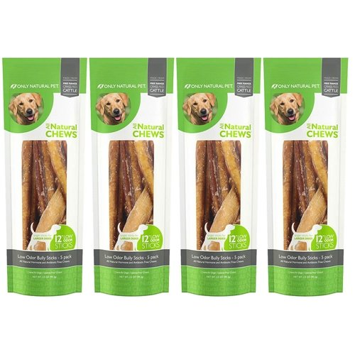 Only Natural Pet Low Odor Bully Stick 12″ 20 Pack For Sale