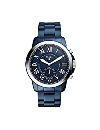Fossil Q Grant Gen 2 Men's Navy Blue Stainless Steel Hybrid Smartwatch FTW1140