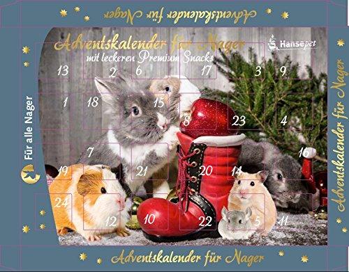 Calendrier de l'Avent pour Petits animaux, rongeurs, lapins – 24 goodies – Friandises - sans sucre nanook