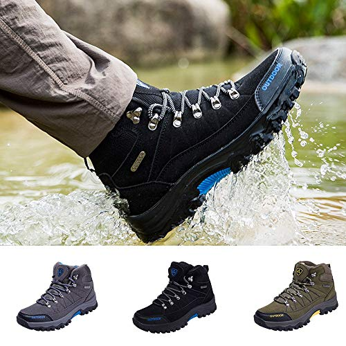 Antiscivolo Grigio Mountaineering Shoes Da Stringate Outdoor Uomo Sportive Corsa Sneakers Scarpe Running Oyedens Ginnastica SqwZgp