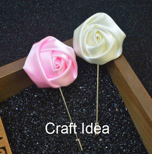 "YYCRAFT Pack Of 20 Satin 4d Rose 2"" Craft Wedding Bride Bouquet Rose Flower-Ivory"