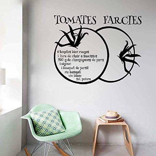 (Funlaugh Quote Decor Recette Recette Tomates Farcies Pour Restaurant De Cuisine Recipe Recipe Stuffed Tomatoes for Kitchen Restaurant 24 inch x 30 inch Mural Decal Sticker)