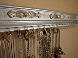 Silver Necklace and Earring Wall Hanger. Also Available in Other Colors