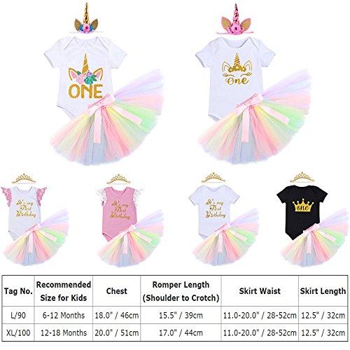 97de907b00e1 Cake Smash Outfits Newborn Baby Girls It s My 1st Birthday Unicorn Shiny  Printed Romper Suit Sequin Dress Princess Tulle ...