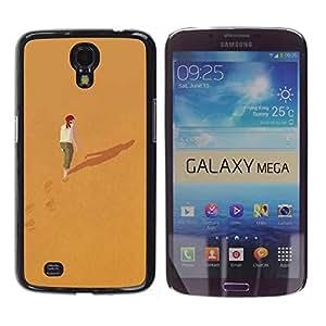 TopCaseStore / la caja del caucho duro de la cubierta de protección de la piel - Alone Deep Meaning Girl Redhead - Samsung Galaxy Mega 6.3 I9200 SGH-i527