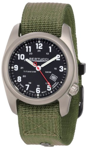 (Bertucci Men's 12122 A-2T Original Classics Durable Titanium Field Watch)