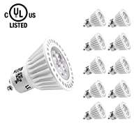 LE 6.5W Dimmable GU10 LED Bulb, 360lm, 50W Halogen Bulb Equivalent, Warm White, UL Listed, Pack of…