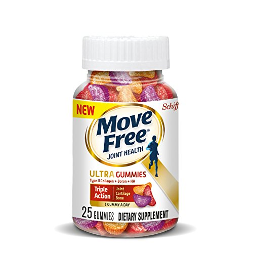 Move Free Ultra Triple Action Gummies, 25 count - Joint Health Supplement with Type II Collagen, Boron and Hyaluronic Acid by Move Free