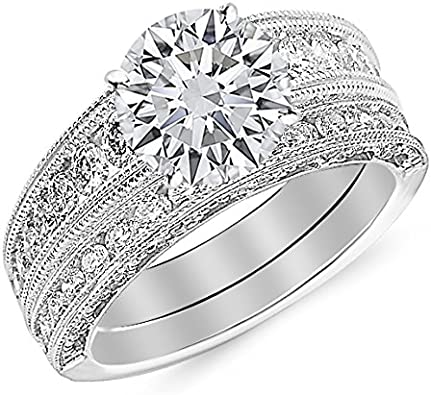 2.00 CT Cushion  Moissanite Engagement Ring Wedding Bridal Jewelry Solid Gold Silver Solitaire Halo Antique Vintage Anniversary Promise Gift