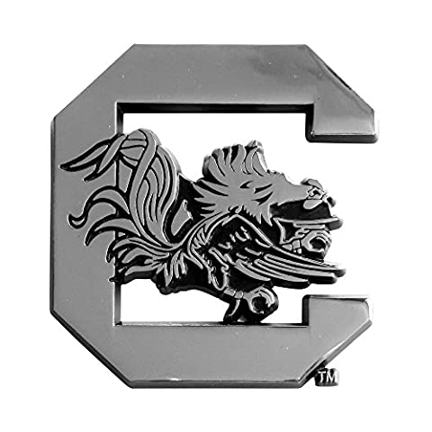 University of South Carolina Chrome Car Emblem - University Chrome Car Emblem