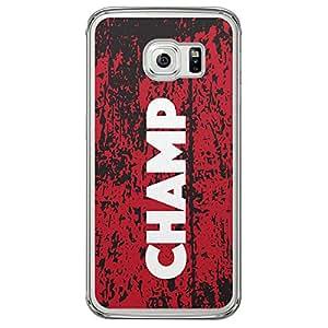 Loud Universe Samsung Galaxy S6 Edge Titles Champ Printed Transparent Edge Case - Black/Red