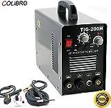 COLIBROX--2 in 1 Tig Dc Pulse Frequency Hf Welder 200 amp Mosfet Inverter Mma Arc Stick 180 Amp Mig Weld Aluminum 3-in-1 DC Welder MIG/TIG/Stick Dual Voltage Welding