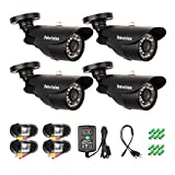 Tekvision 4 Pack 960H HD 1000TVL Security Surveillance Camera Kit CCTV Home Outdoor IR Cut Night Vision Waterproof Weatherproof